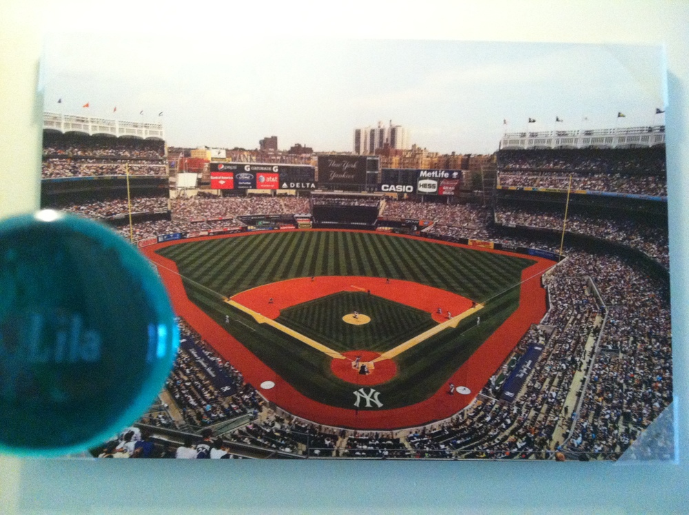 Another picture of how cool this Lila stone looks with the Yankees picture
