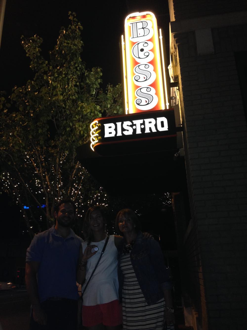 Lila stone at Bess's bistro (Sandra Bullock's restaurant in Austin)