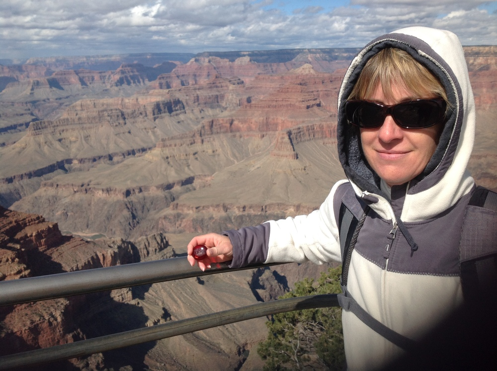 Lila at the Grand Canyon with Linda