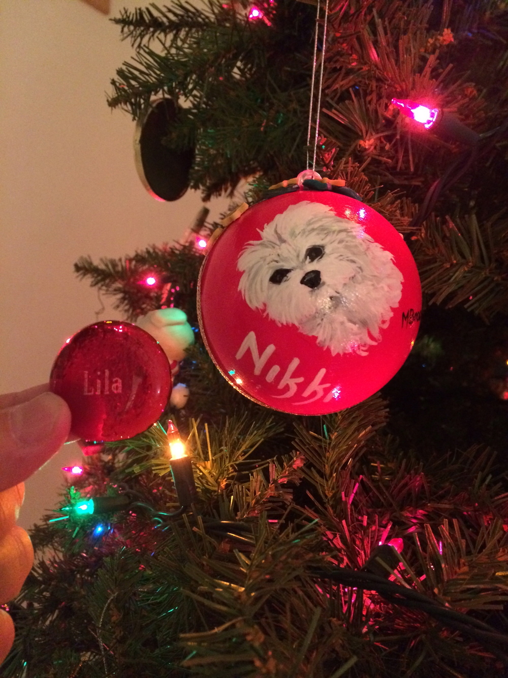 Lila stone by an Aunt Nikki ornament