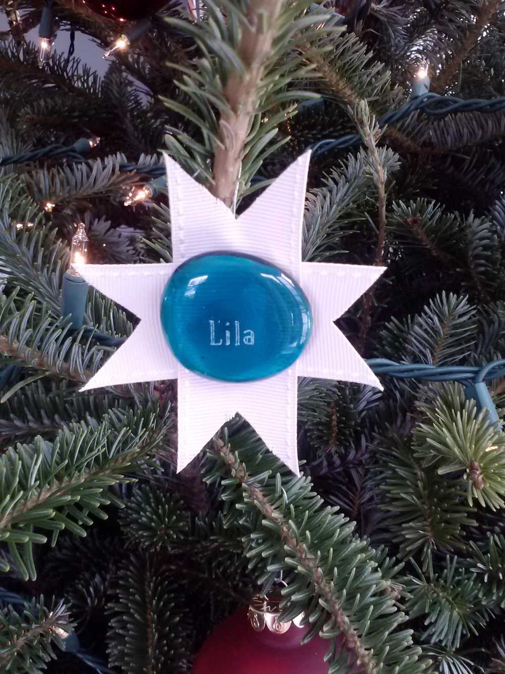 Lila stone on the Bricker Christmas Tree