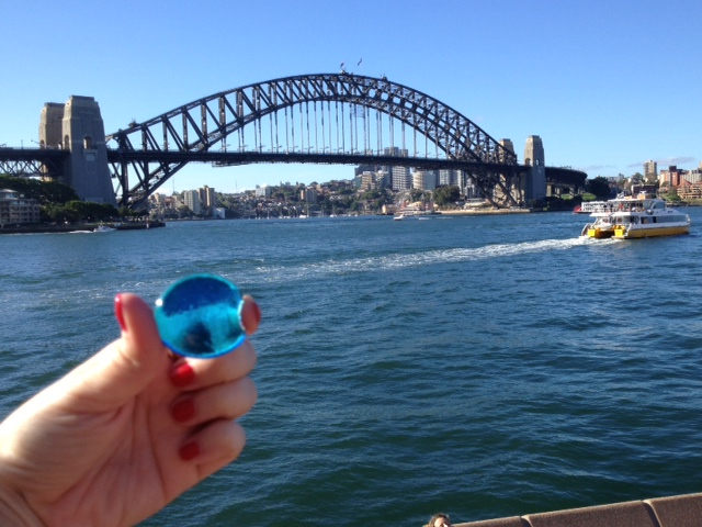 Lila stone at Sydney Harbor Bridge