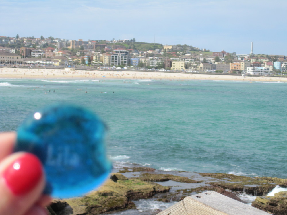Lila stone at Bondi Beach