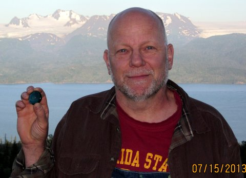 Lila stone in Homer, Alaska