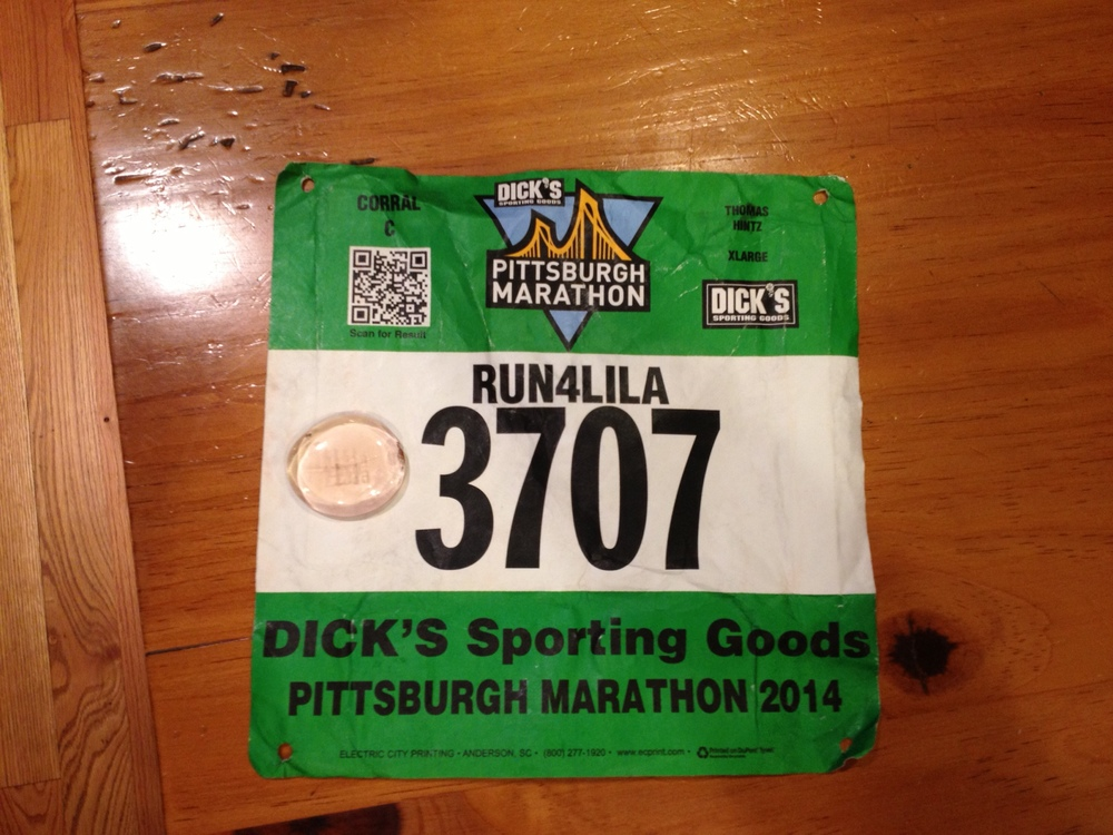 Uncle Tom runs a marathon in Lila's name!