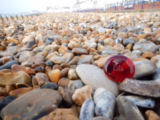 Lila stone on British Coast