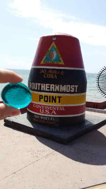 Lila at the Southernmost point in the USA