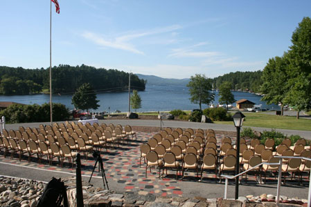 Non-traditional wedding ceremony location - lake.