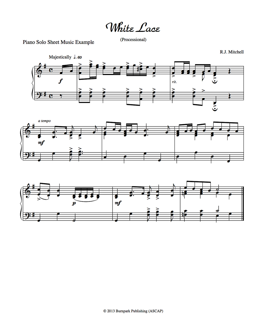 Piano Sheet Music Example