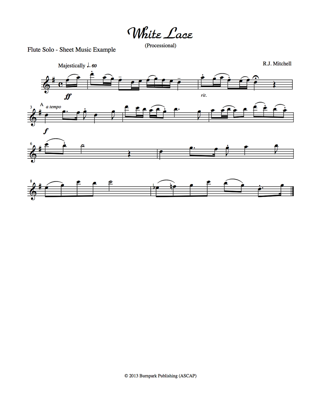 Flute Solo Sheet Music Example