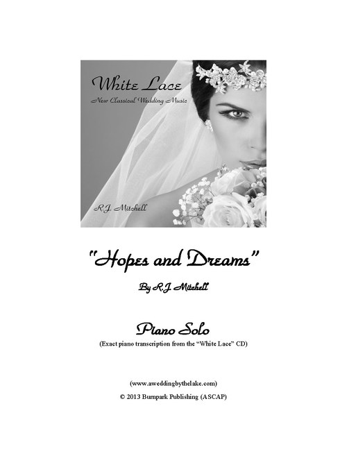 Dream Wedding Piano Sheet Music
