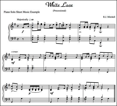Piano Sheet Music Perfect Wedding Ceremony Music