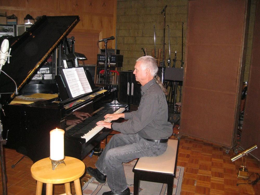 R.J. Mitchell in the studio