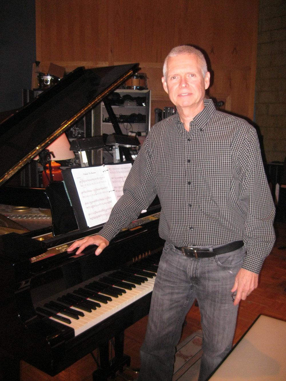 R.J. Mitchell in the recording studio