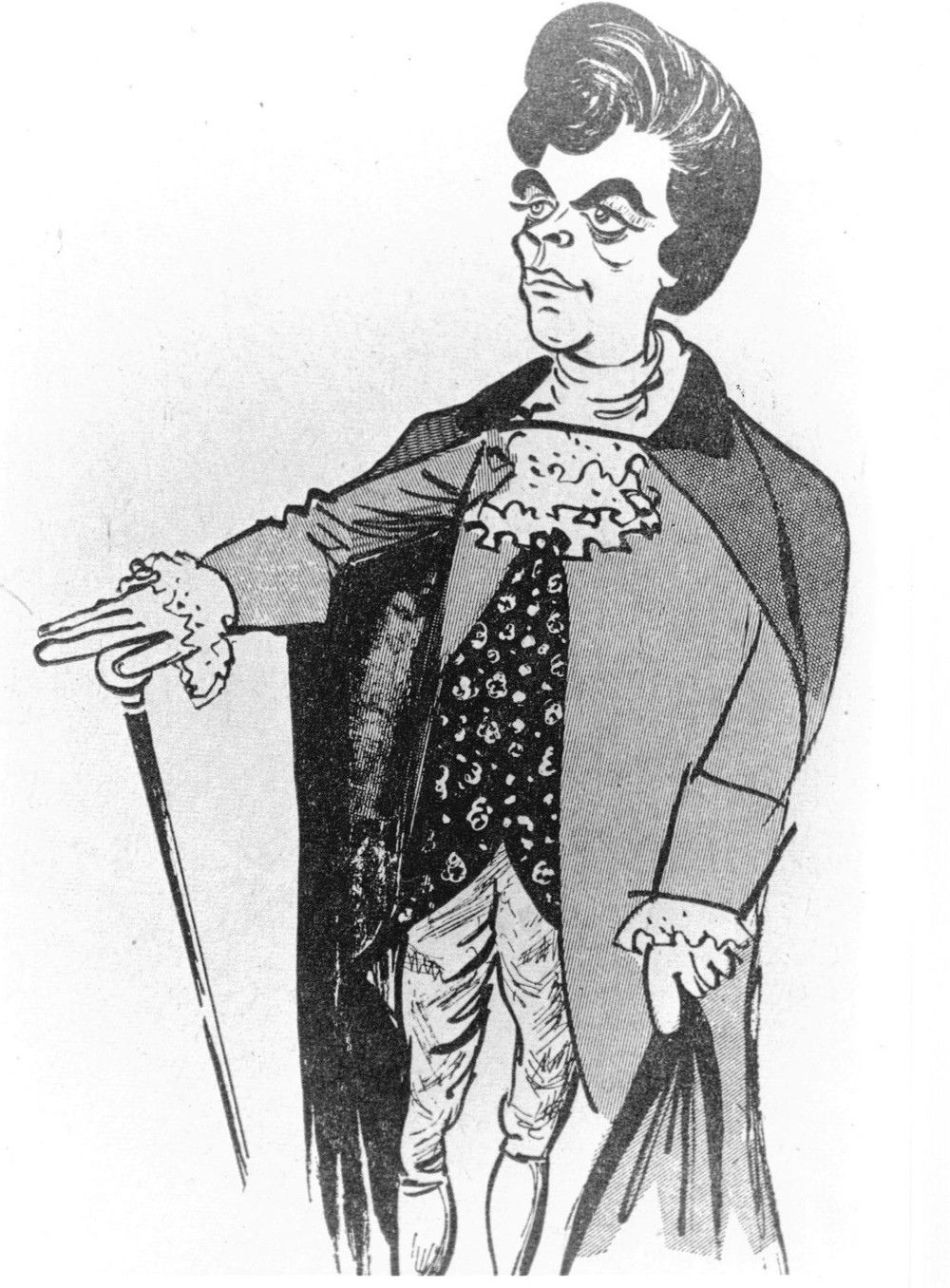 01_John Cairney as James Boswell in 'Young Auchinleck' - caricature by Emilio Coia 1962.jpg