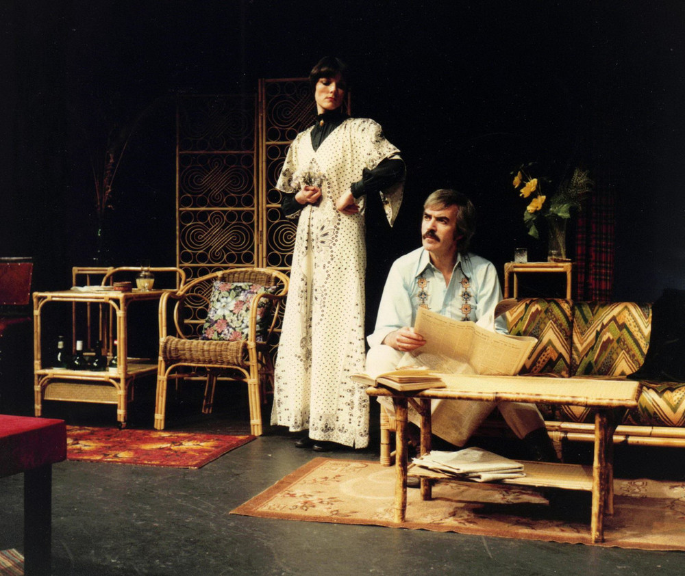 40_John Cairney as Robert Louis Stevenson & Alannah O'Sullivan as Fanny Osborne in 'Mr & Mrs RLS' Byre Theatre, St Andrews 1980 (2).jpg