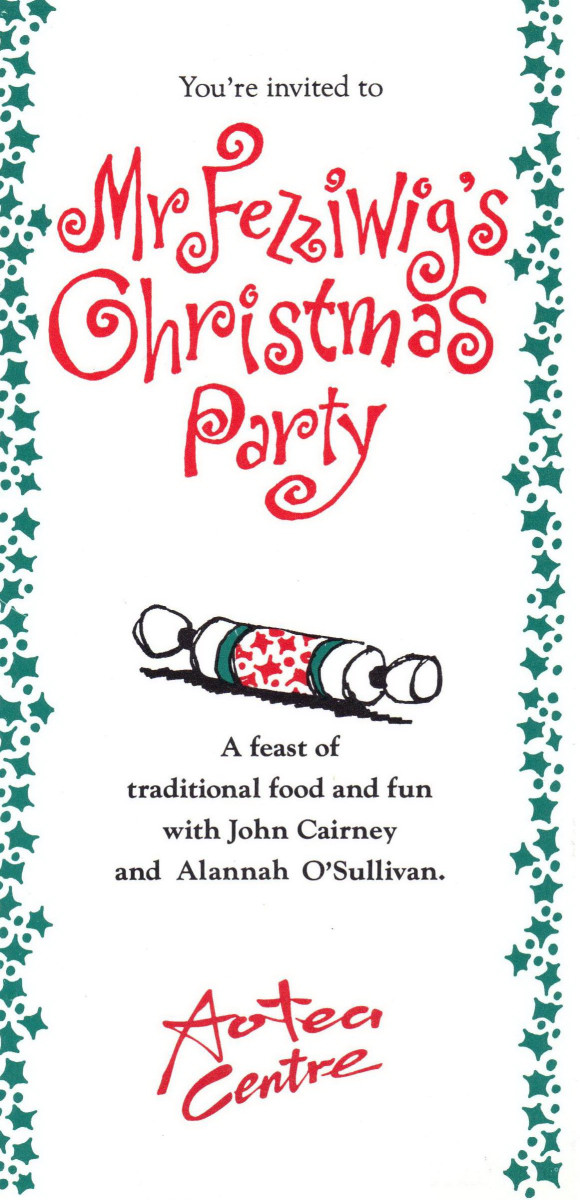 49_Poster for 'Mr Fezziwig's Christmas Party' Aotea Centre, Auckland, NZ 1991.jpg