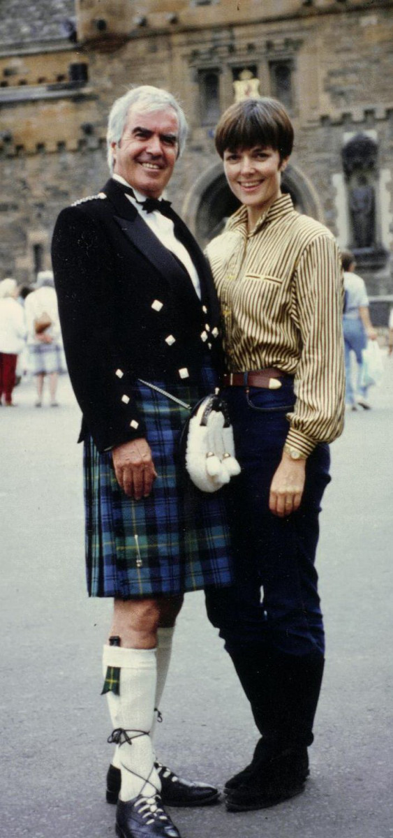 57_Publicity shot of John Cairney & Alannah O'Sullivan, Edinburgh Castle 1990.jpg