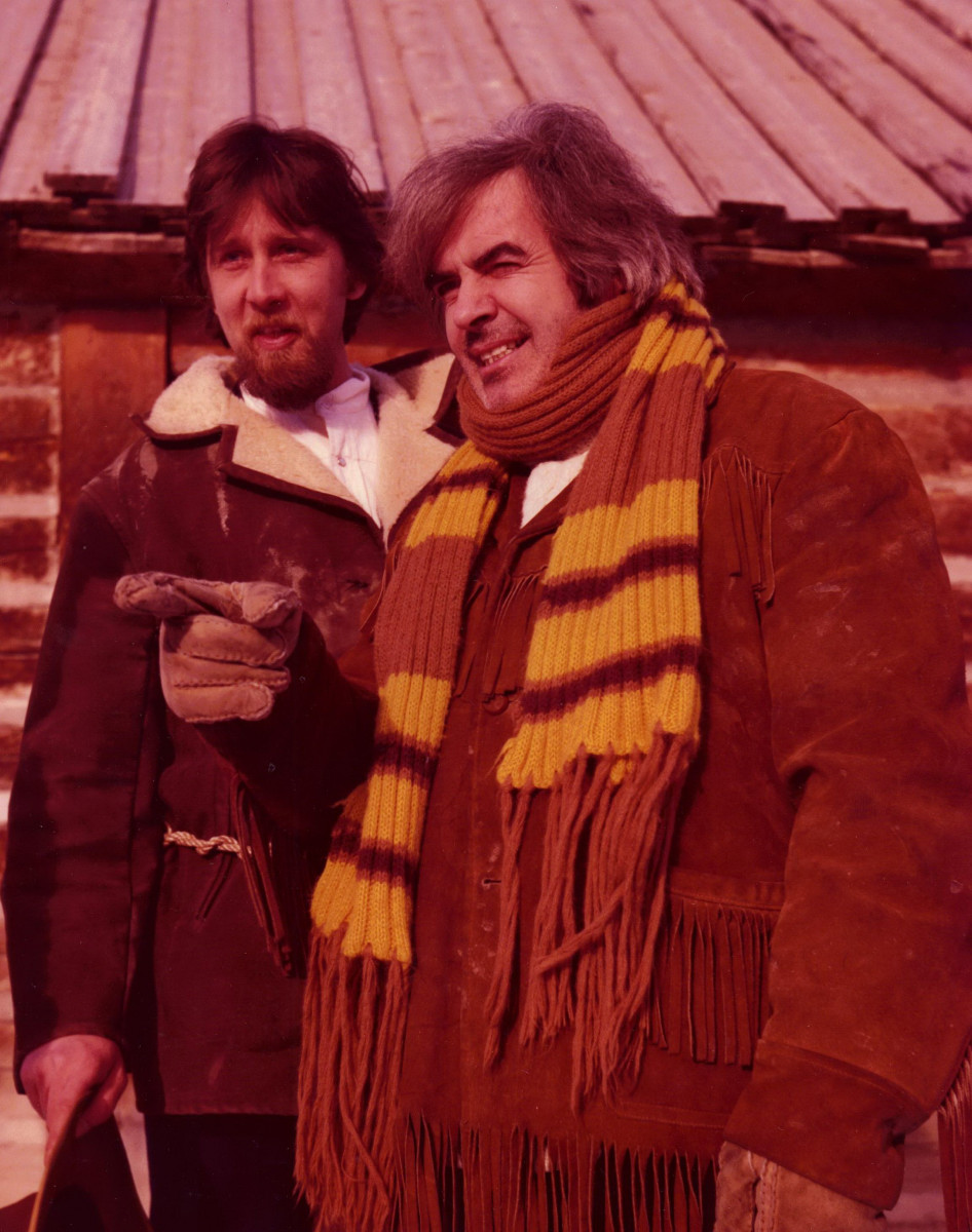 42_John Cairney on location for 'The Robert Service Story' CBC Calgary, Canada 1977.jpg