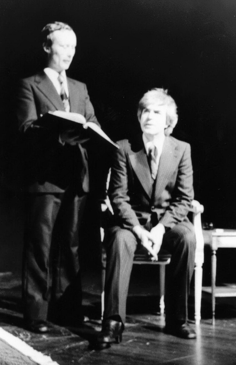 20_John Cairney as Ivor Novello with Colin Harvery Wright in 'The Ivor Novello Story' 1976.jpg