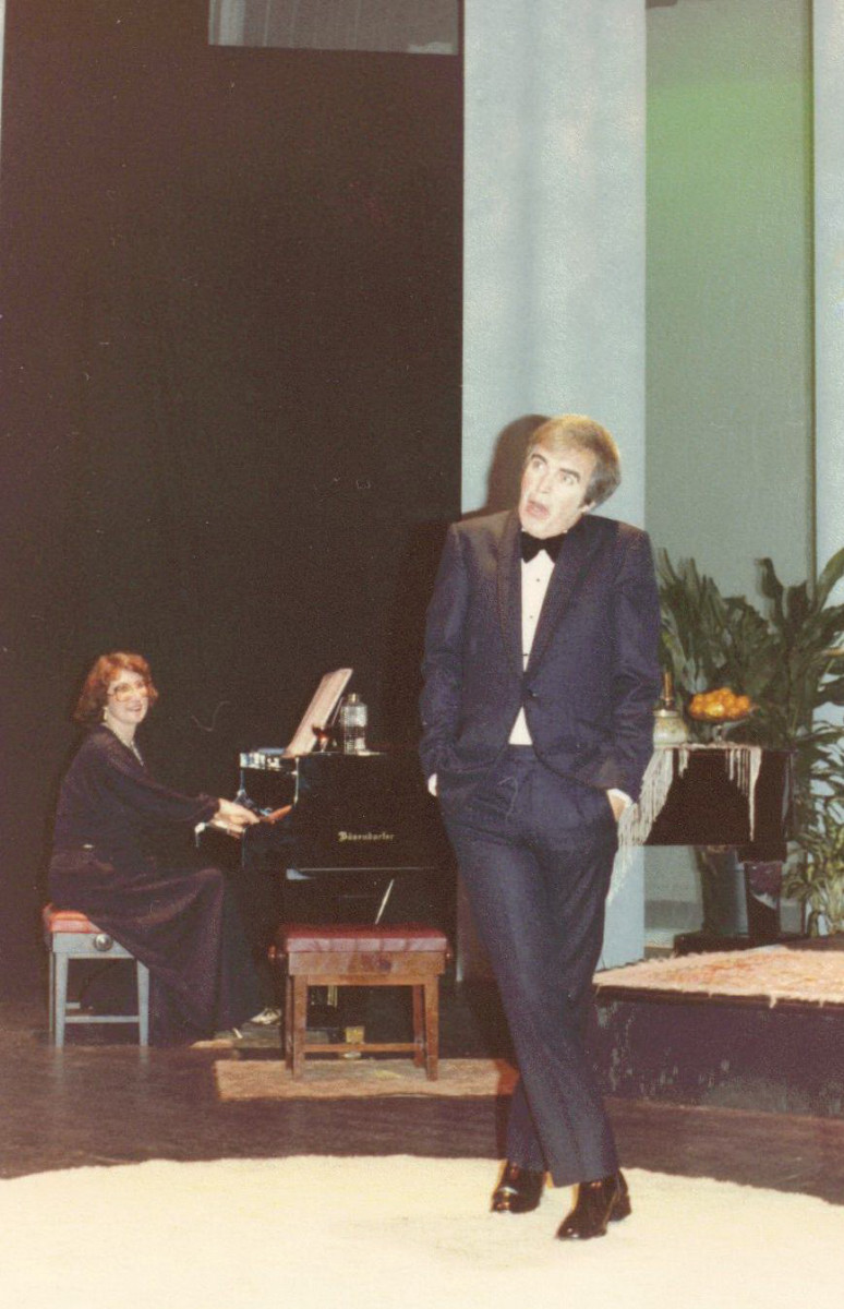 21_John Cairney as Ivor Novello with Penny Dodds at the piano in 'The Ivor Novello Story' Auckland, New Zealand 1982.jpg