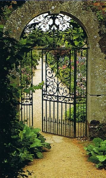 Gorgeous French Garden Gate  ~ Style Estate - 15 Gorgeous Garden Gates