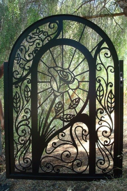 Custom ornamental garden gate by Davinci Metal Works ~ Style Estate  - 15 Gorgeous Garden Gates