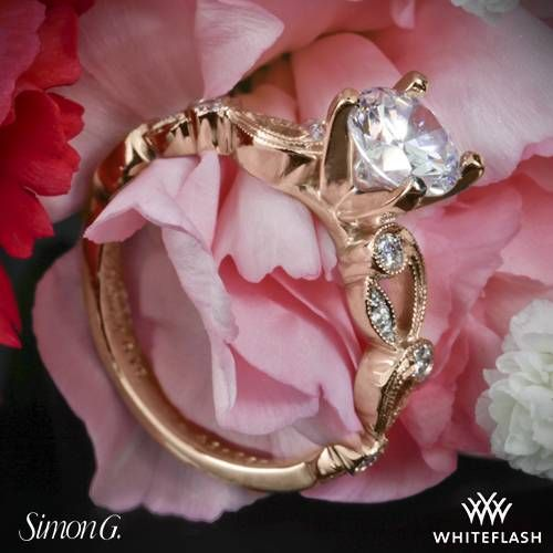 18k Rose Gold Simon G TR473 Duchess Diamond Engagement ~ How To Select The Perfect Diamond Engagement Ring - Style Estate -