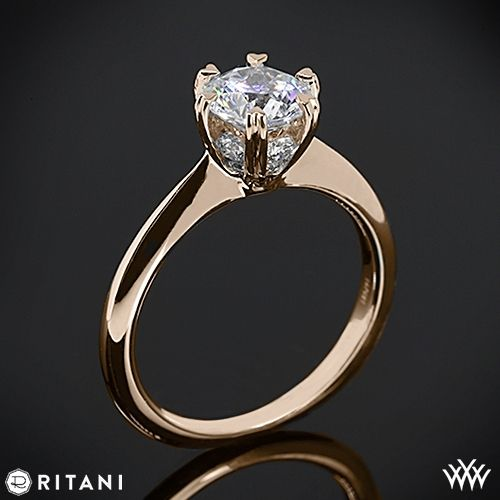 18k Rose Gold Ritani Setting Solitaire Engagement Ring  ~   How To Select The Perfect Diamond Engagement Ring - Style Estate -