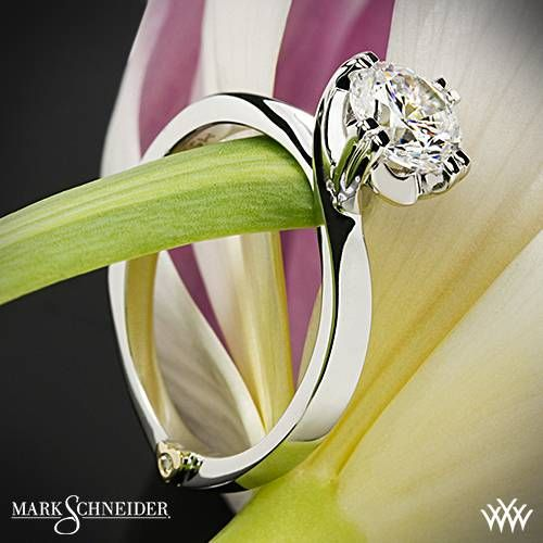 14k White Gold Mark Schneider Beloved Solitaire Engagement Ring ~ How To Select The Perfect Diamond Engagement Ring - Style Estate -