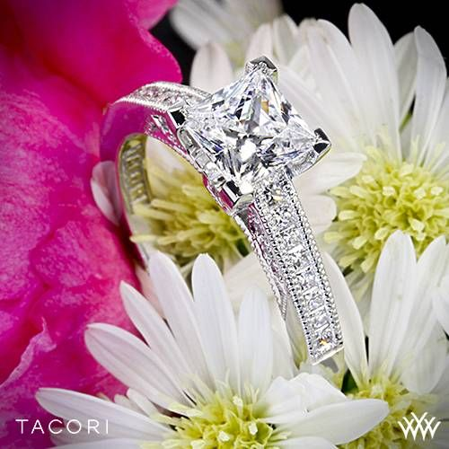 18k White Gold Tacori Simply Tacori Channel-Set Diamond Engagement Ring ~ How To Select The Perfect Diamond Engagement Ring - Style Estate -