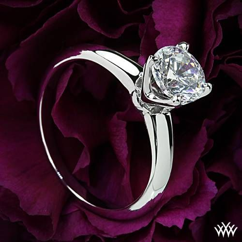 "18k White Gold Vatche ""5th Avenue"" Solitaire Engagement Ring  ~   How To Select The Perfect Diamond Engagement Ring - Style Estate -"