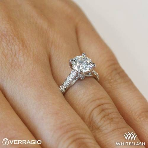 Verragio 4 Prong Pave Diamond Engagement Ring ~ How To Select The Perfect Diamond Engagement Ring - Style Estate -