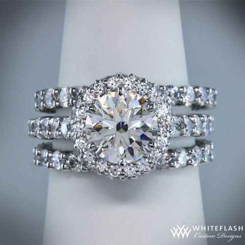 "This ""Rounded Pave Halo"" Diamond Engagement Ring is set with a 1.584ct A CUT ABOVE® Diamond. ~ How To Select The Perfect Diamond Engagement Ring - Style Estate -"