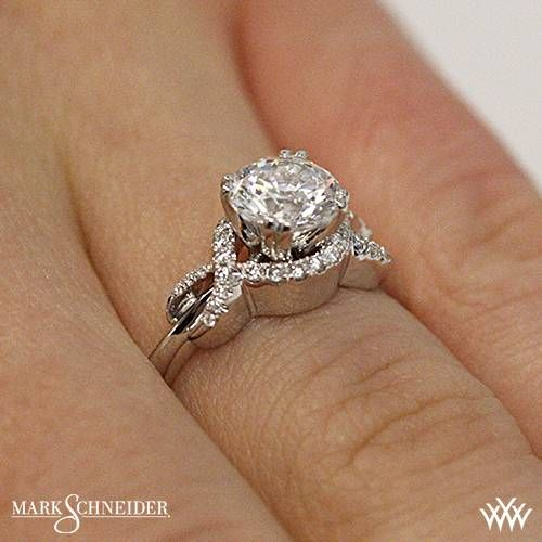 Platinum Mark Schneider Infinity Diamond Engagement Ring  ~   How To Select The Perfect Diamond Engagement Ring - Style Estate -