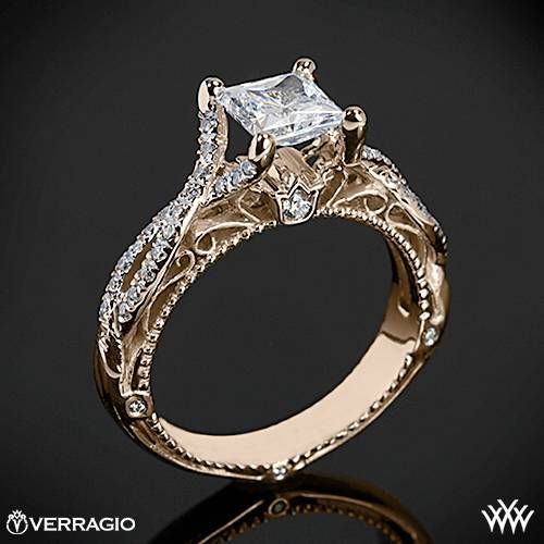 20k Rose Gold Verragio Pave Twist Diamond Engagement Ring  ~   How To Select The Perfect Diamond Engagement Ring - Style Estate -