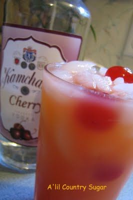 Popped Cherry (1 c. ice 1 oz. maraschino cherry juice 2 oz. cherry vodka 4 oz. orange juice 3 maraschino cherries). ~ 25 Deliciously Naughty Cocktail Recipes - Style Estate -