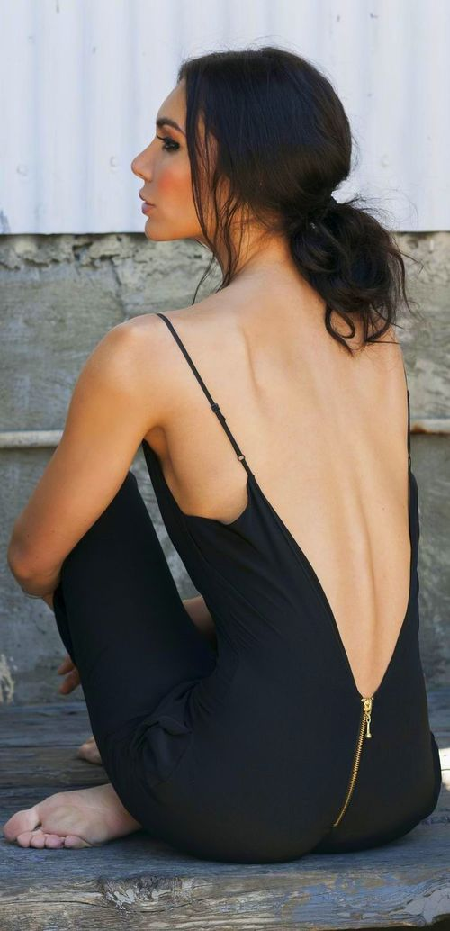 Talina Herman Open Back Jumpsuit   Via