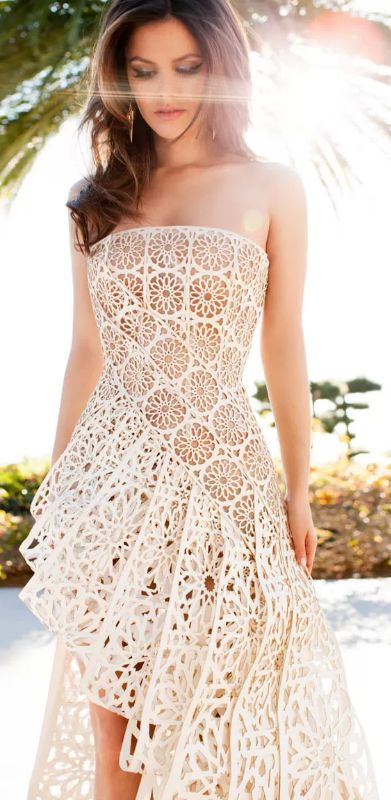 Rachel Bilson ♥ White lace dress   Via
