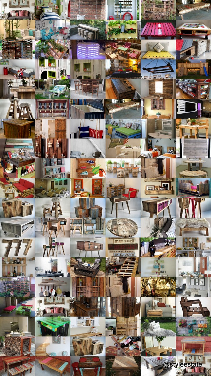 100 Ideas For Making Beautiful Furniture From Upcycled Pallets @styleestate