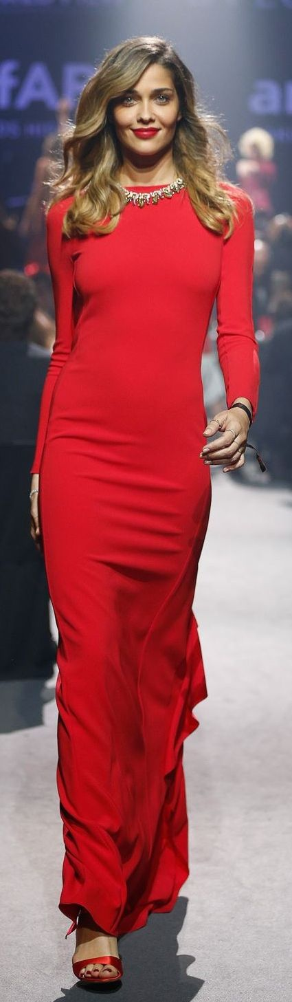 Max Mara Long Red Dress