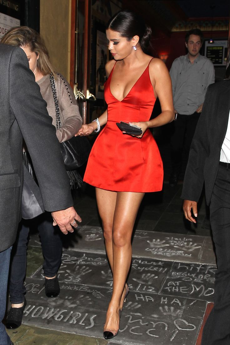 Selena Gomez rocking a little red dress.