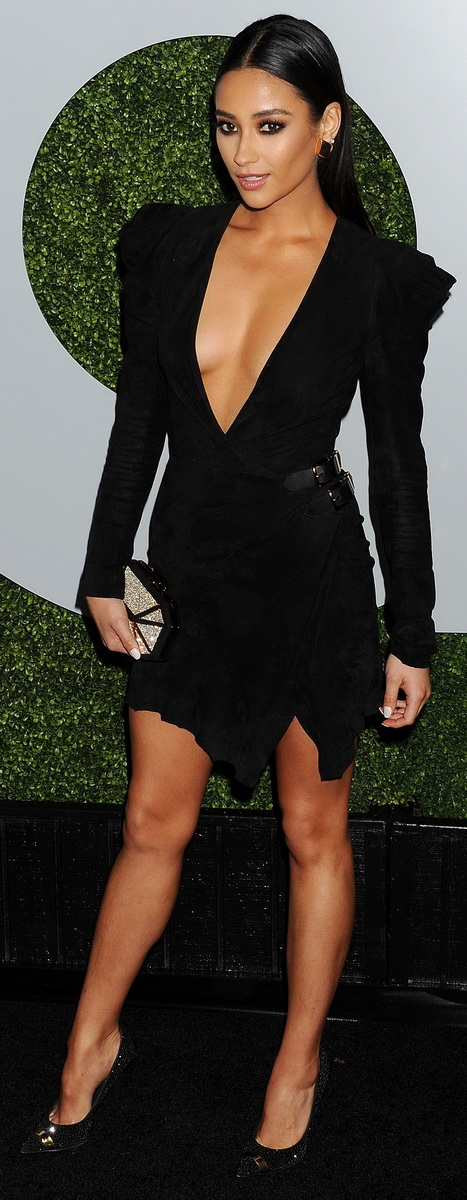 Arrivals at the 2014 GQ Men of the Year party.  Shay Mitchell