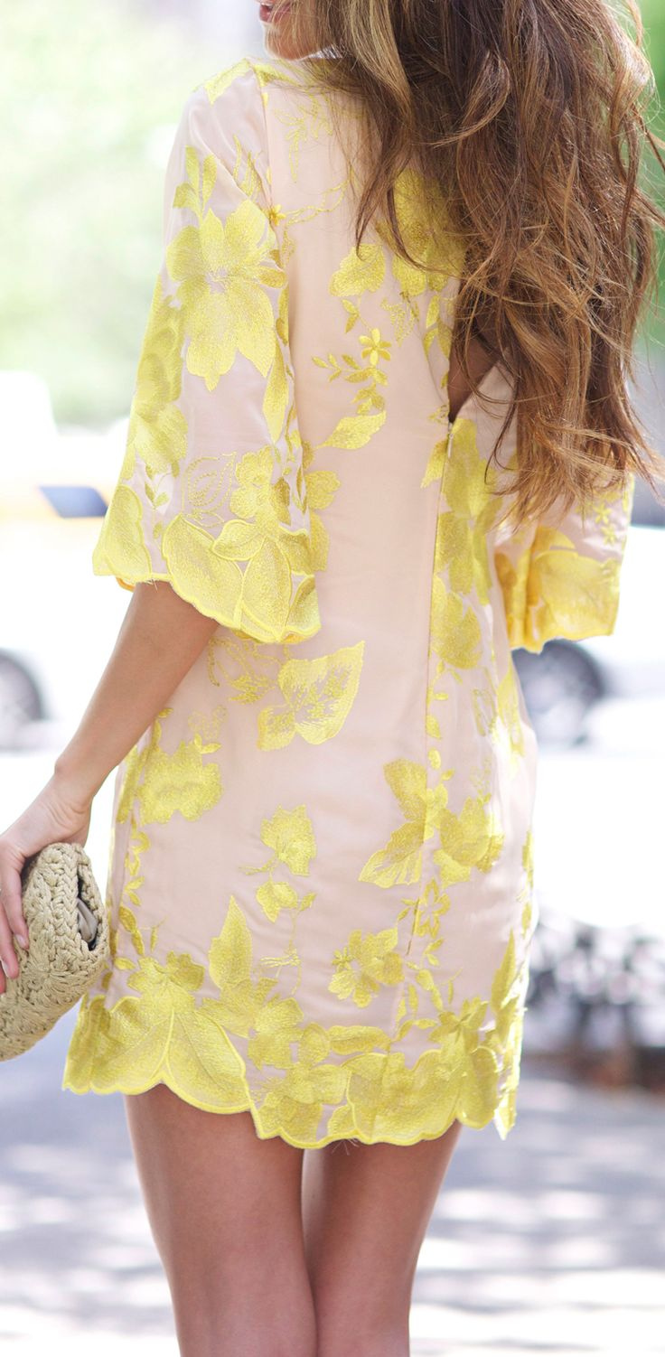 Canary yellow + nude.