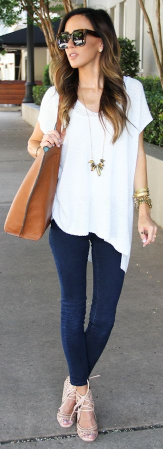 Short Sleeve Sweater + Jeffrey Campbell Wedges