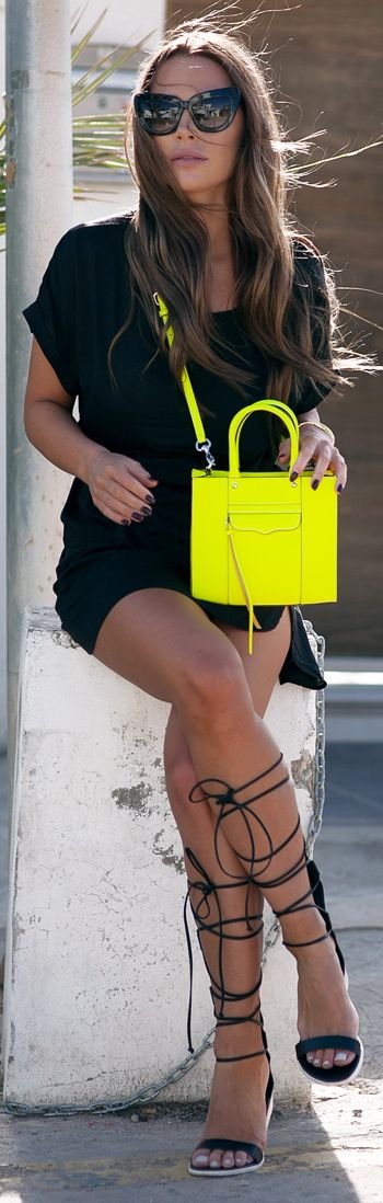 #LBD -- The outfit: Shoes: TIBI Dress: LINDEX Sunglasses: VALLEY Bag: REBECCA MINKOFF Watch: TISSOT