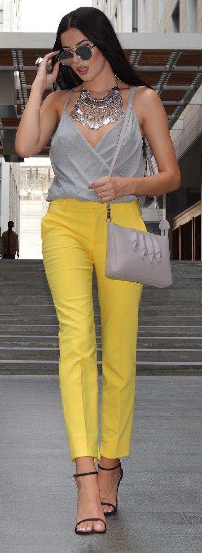 Yellow Zara Pants