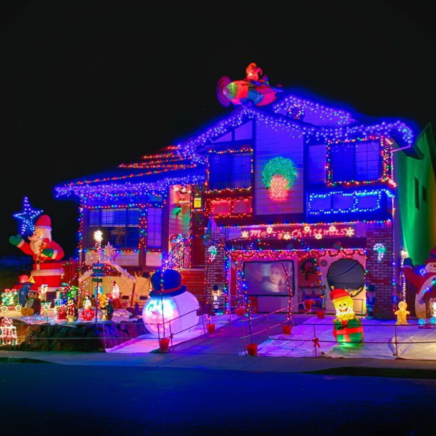 Spectacular home christmas lights displays — style estate