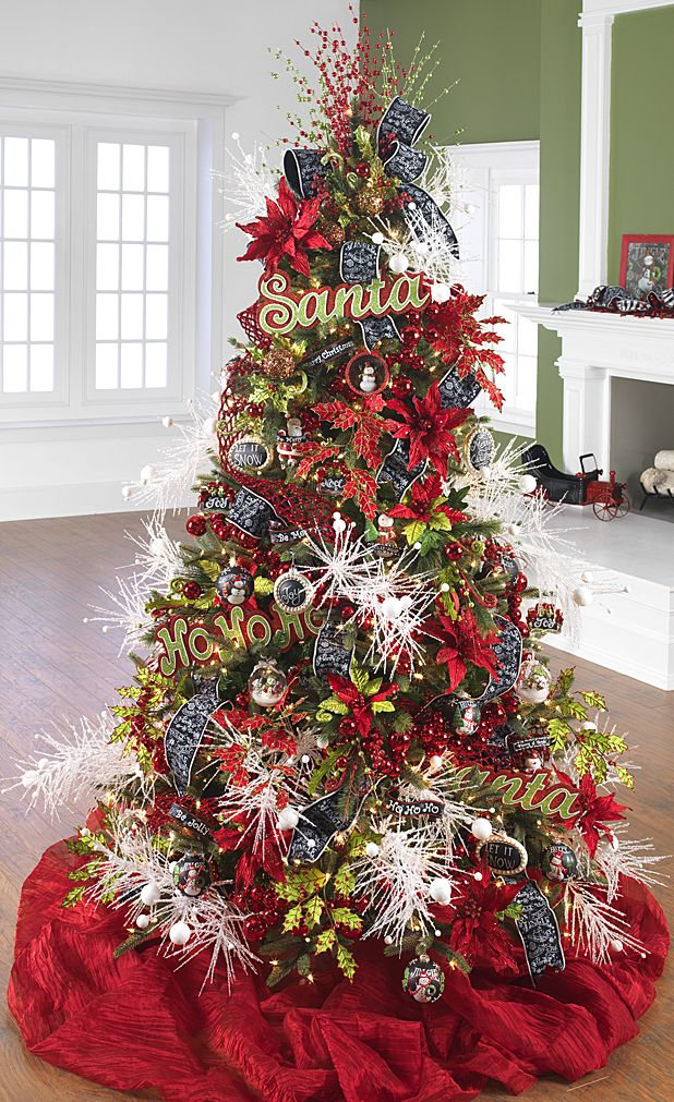 60 gorgeously decorated christmas trees from raz imports. Black Bedroom Furniture Sets. Home Design Ideas