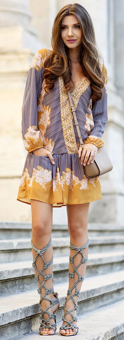 Shein mixed print dress // Jessica Buurman rope sandals // ZeroUV sunnies // Michael Kors mini Selma bag from LuisaViaRoma